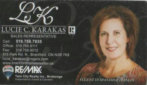 Lucie C. Karakas, Sales Representative, Remax Twin City Realty Inc., Brokerage